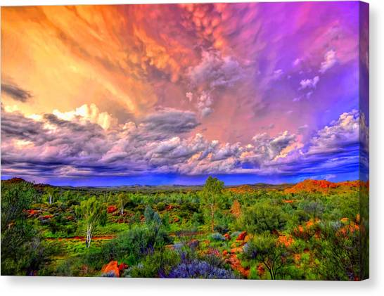 Storm On The Telegraph Canvas Print