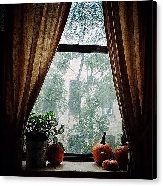 Pumpkins Canvas Print - Storm Outside...safe Inside by Natasha Marco