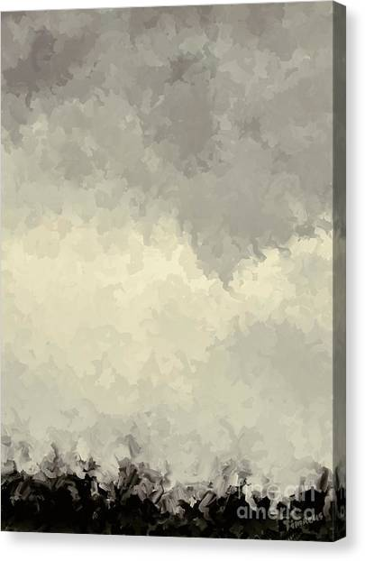 Storm Over A Cornfield Canvas Print