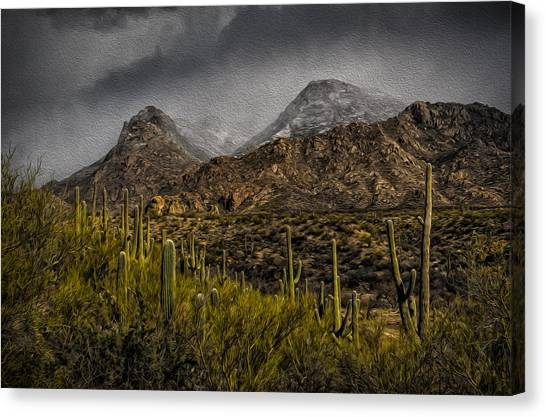 Storm Over Catalinas Aso Canvas Print