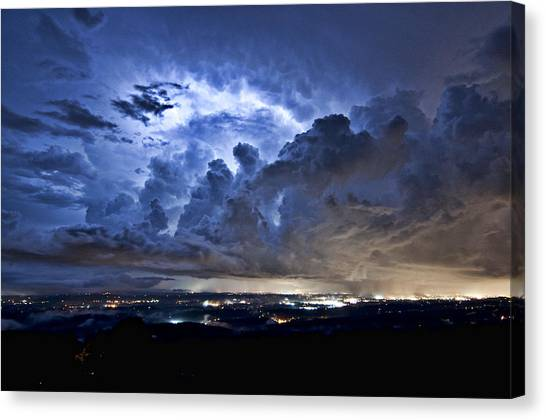 Storm Over Chattanooga Canvas Print