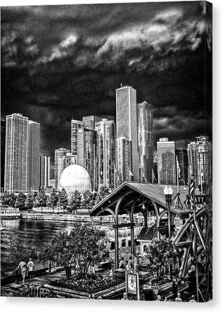 Storm Over Chi Town Canvas Print