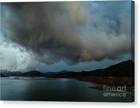 Storm Over Lake Shasta Canvas Print