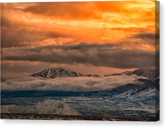 Storm Over Mt Rose Canvas Print