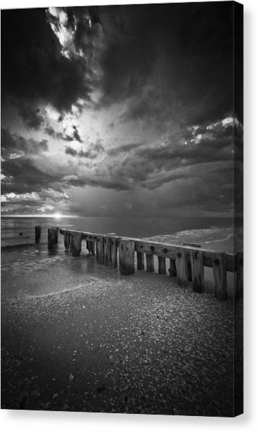 Storm Over Naples Florida Beach Canvas Print