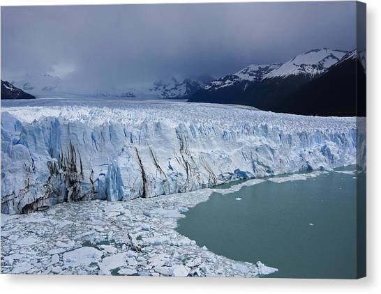 Perito Moreno Glacier Canvas Print - Storm Over Perito Moreno by Michele Burgess