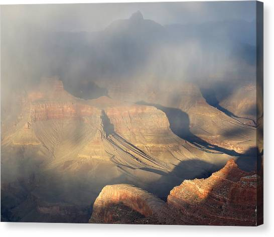 Storm Over The Grand Canyon Canvas Print