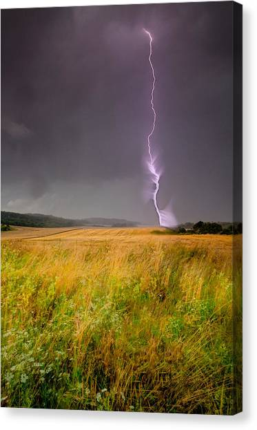 Storm Over The Wheat Fields Canvas Print