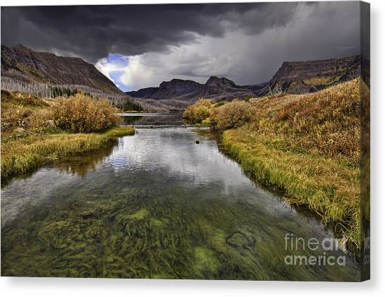 Storm Over Trappers Lake Canvas Print