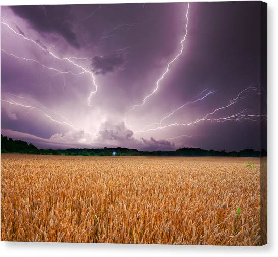 Storm Over Wheat Canvas Print