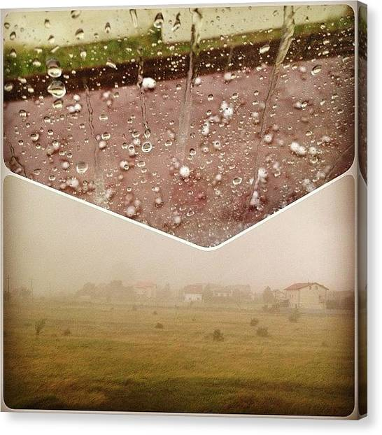 Hailstorms Canvas Print - #storm #rain #raindrop #raindrops by Marius Bercea