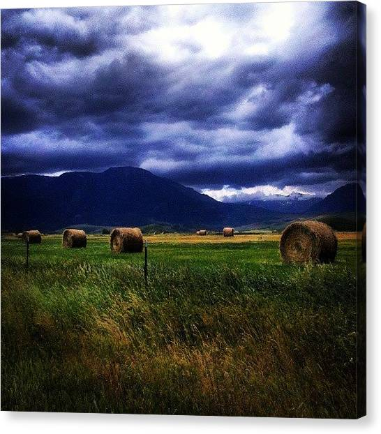Big Sky Canvas Print - Storm Clouds Rolling In by Denette Jacobson
