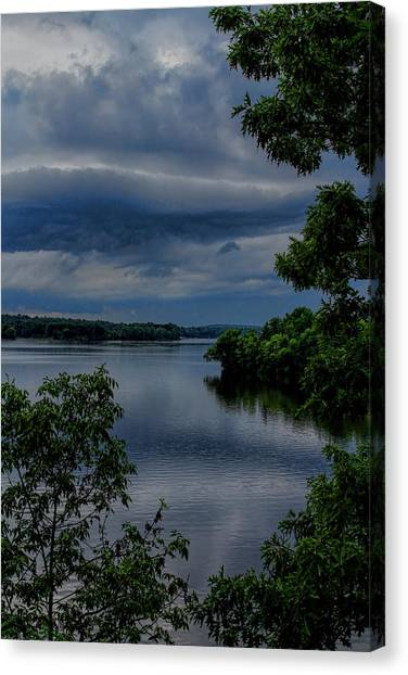 Storm Rolling Over Lake Wausau Canvas Print