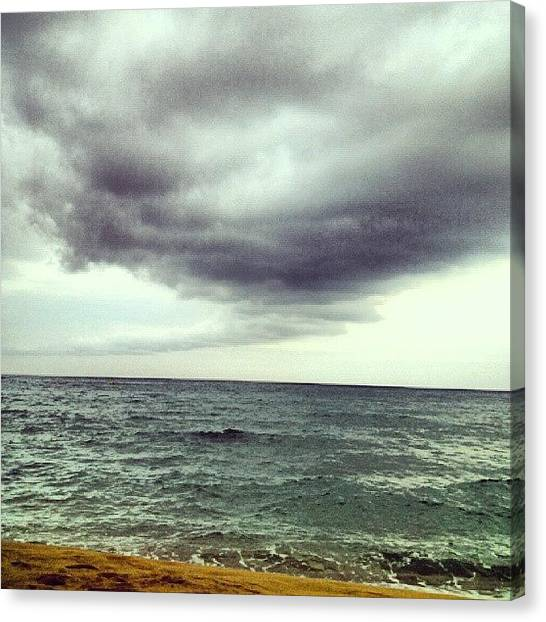 Tornadoes Canvas Print - #storm #tormenta #tornado #beach #playa by Jorge Rodriguez