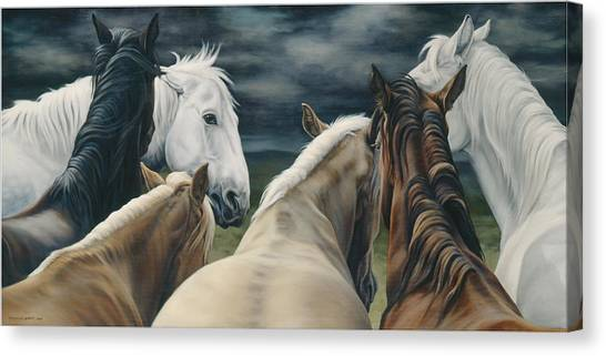 Equestrian Canvas Print - Storm Warning by JQ Licensing