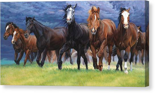 Horse Farms Canvas Print - Storm Warning by JQ Licensing