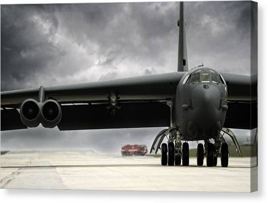 Cold War Canvas Print - Stormfront B-52 by Peter Chilelli