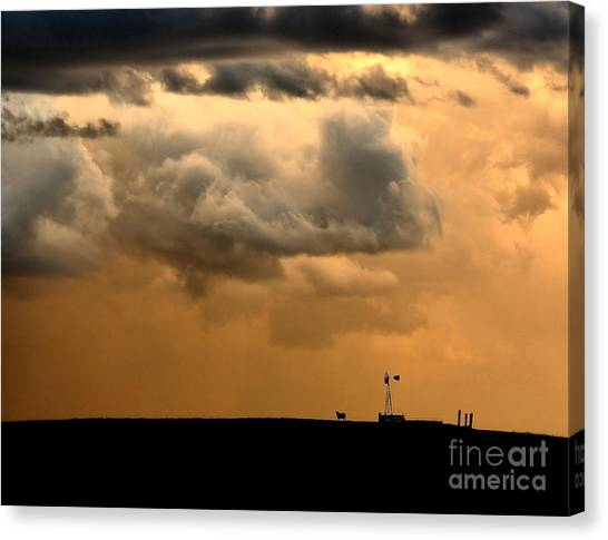 Hailstorms Canvas Print - Storm's A Brewing by Steven Reed