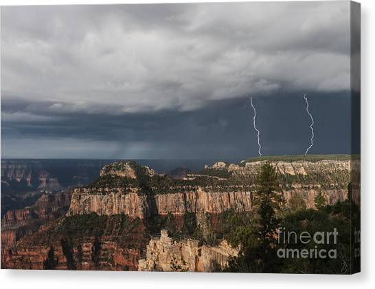 Rainclouds Canvas Print - Storms At The Grand Canyon North Rim by Sandra Bronstein