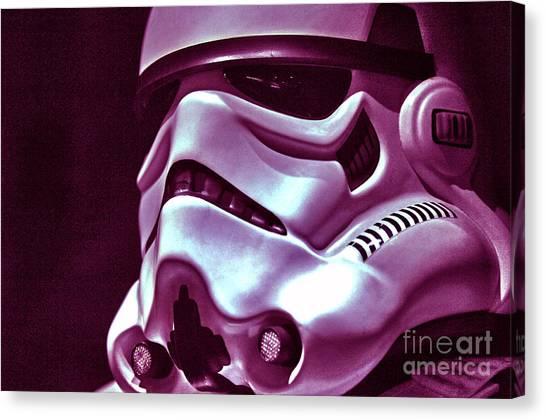 Stormtrooper Helmet 20 Canvas Print by Micah May