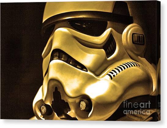 Stormtrooper Helmet 24 Canvas Print by Micah May