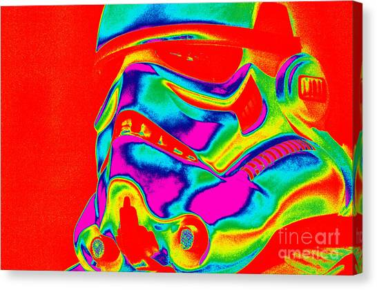 Stormtrooper Helmet 28 Canvas Print by Micah May