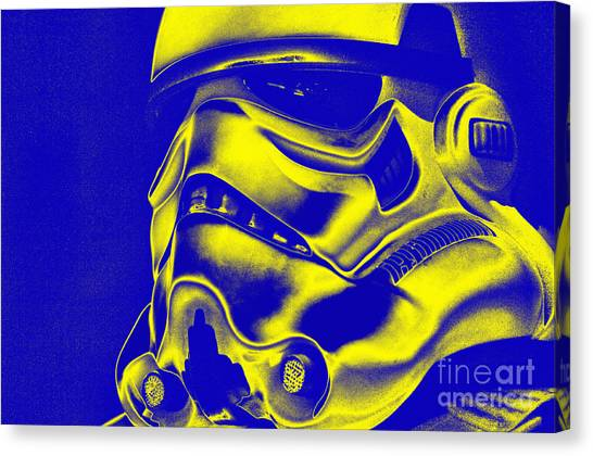 Stormtrooper Helmet 29 Canvas Print by Micah May