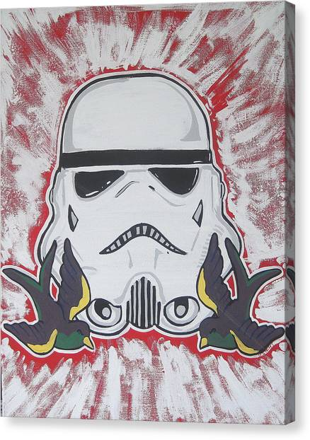 Stormtrooper Tattoo Art Canvas Print by Gary Niles