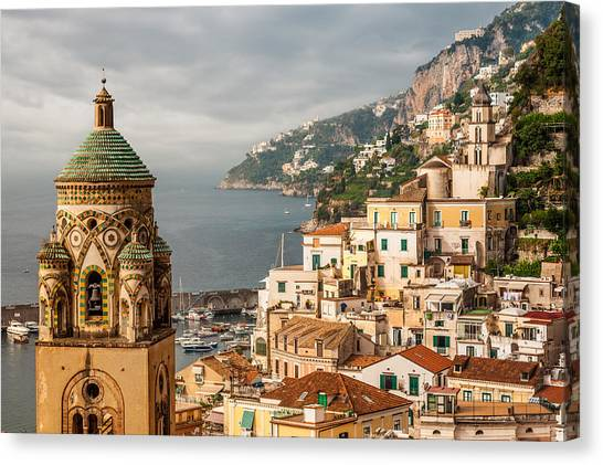Stormy Amalfi Canvas Print
