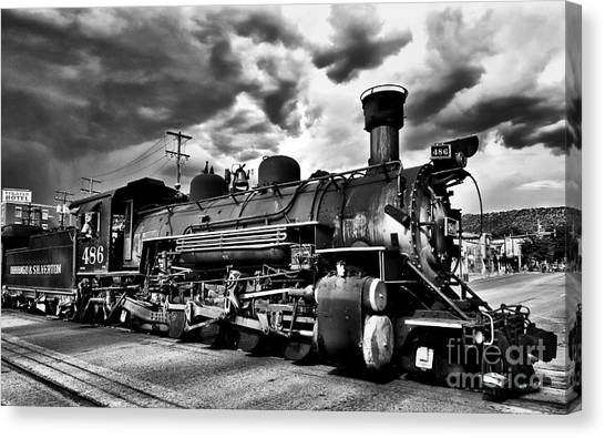Stormy Arrival Canvas Print