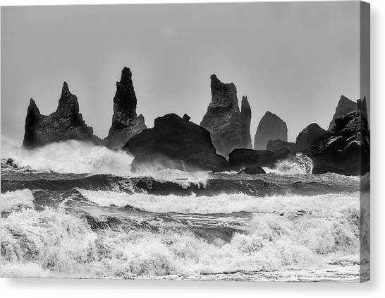 Stormy Beach Canvas Print by Alfred Forns