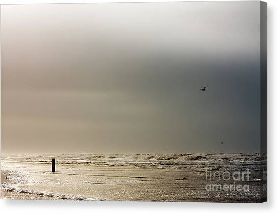 Stormy Beach Canvas Print
