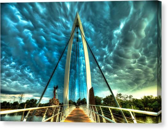 Keeper Canvas Print - Stormy Bridge by  Caleb McGinn