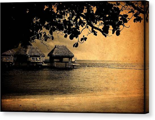 Stormy Bungalows Canvas Print