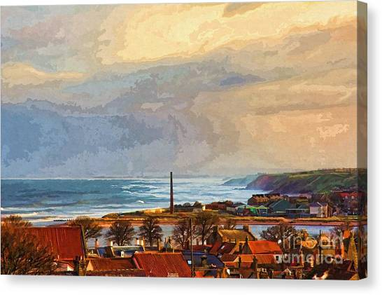 Stormy Day At Berwick - Photo Art Canvas Print