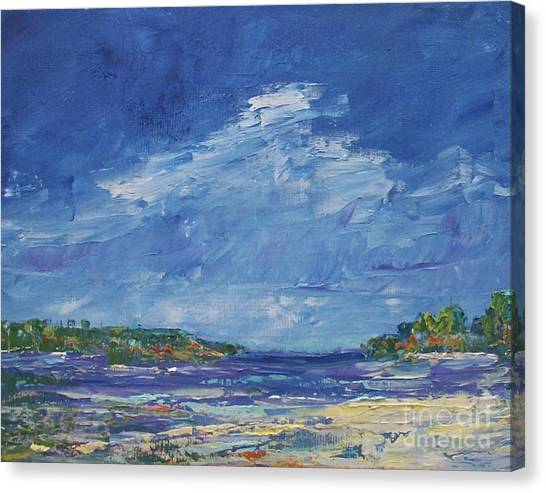 Stormy Day At Picnic Island Canvas Print
