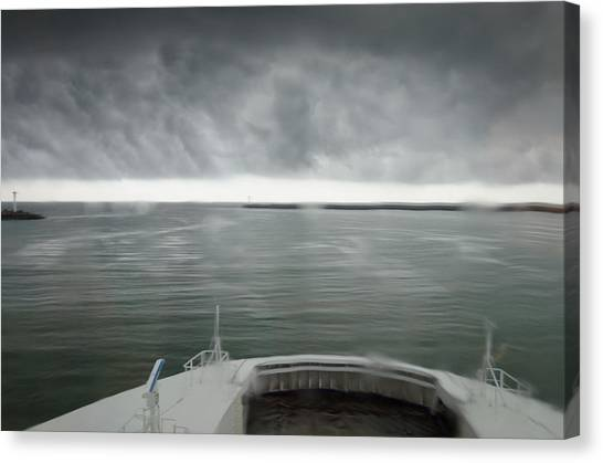 Stormy Departure Canvas Print