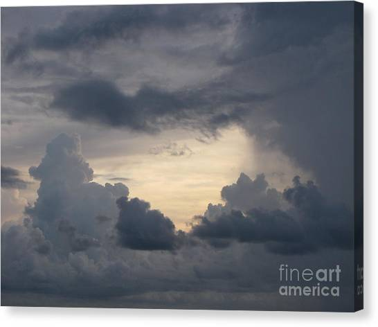 Stormy Evening Canvas Print by Gayle Melges