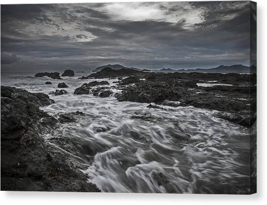 Stormy Evening On The Pacific Canvas Print