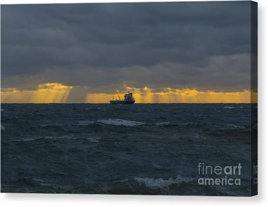 Stormy Falmouth Canvas Print