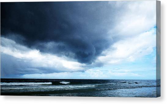 Hurricanes Canvas Print - Stormy - Gray Storm Clouds By Sharon Cummings by Sharon Cummings