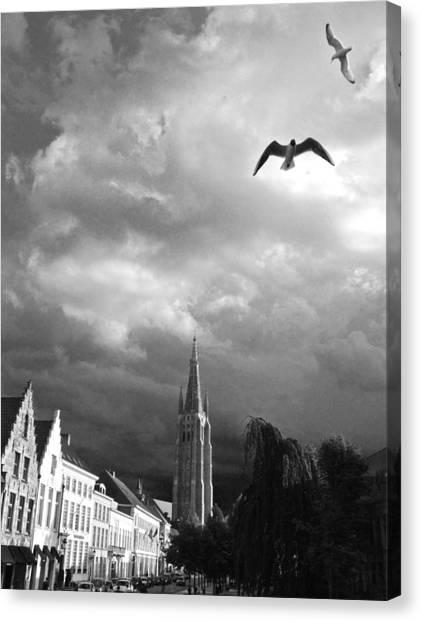 Stormy Gulls  Canvas Print