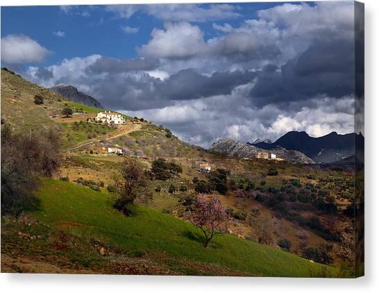 Stormy Mediterranean Landscape Canvas Print