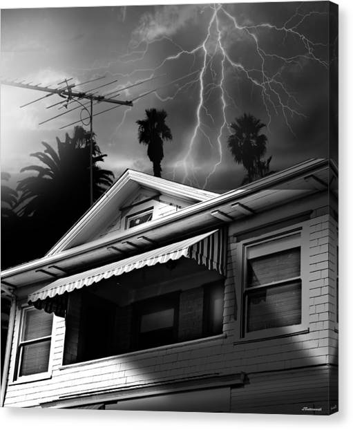 Stormy Monday Canvas Print by Larry Butterworth