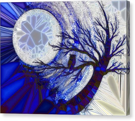 Stormy Night Owl Canvas Print