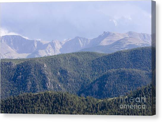 Stormy Pikes Peak Canvas Print