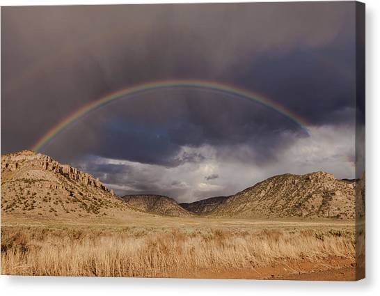 Stormy Rainbow Canvas Print