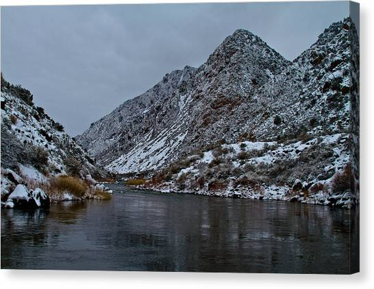 Stormy River Canvas Print