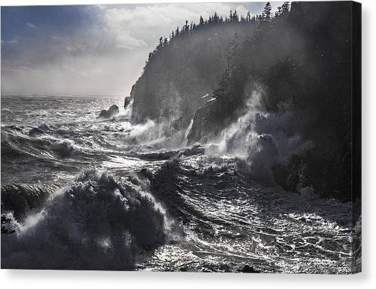 Stormy Seas At Gulliver's Hole Canvas Print