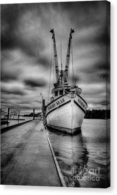 Shrimp Boats Canvas Print - Stormy Seas by Matthew Trudeau